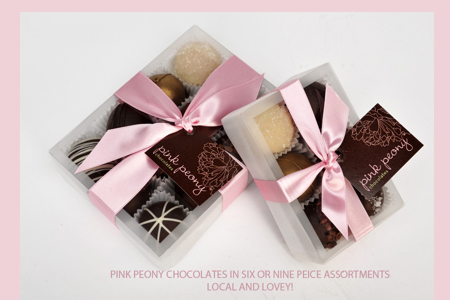 Pink Peoney Chocolates at Bon Bon Candy Store